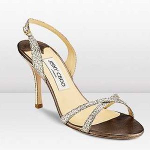 Jimmy Choo- Champagne India-evening shoes